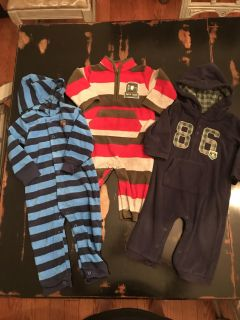 Lot is 3 Size 12 month Coveralls