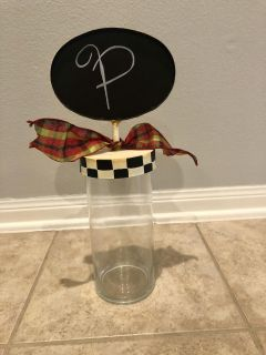 Glass canister with chalkboard top
