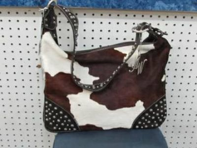 AMERICAN WEST Santa Fe Collection Purse Brown and Cream NEW
