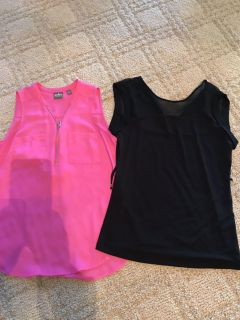 2 New York and Co dressy tops that would be great under a blazer.
