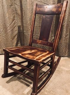 Solid wood antique low-rise rocking chair