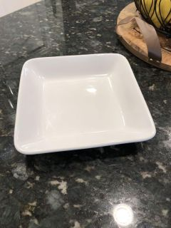 Pampered chef white plate