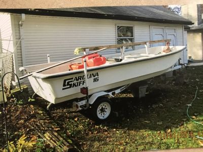 Boat and trailer - Carolina skiff