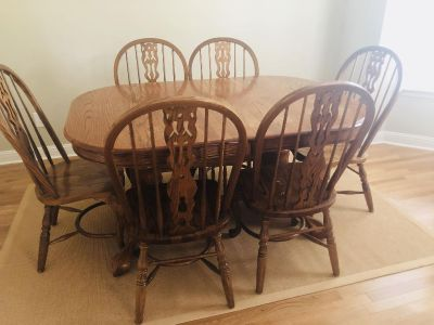 Dining Table and (6) Chairs - Solid Wood