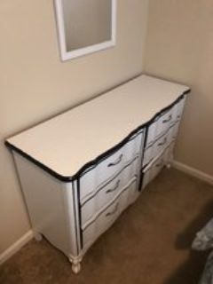 White Dresser Drawer w/ 18 x 22 mirror