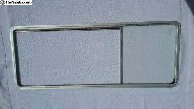 VW Vanagon Framed center Window Left, Driver Side