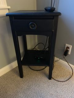 Small black end table