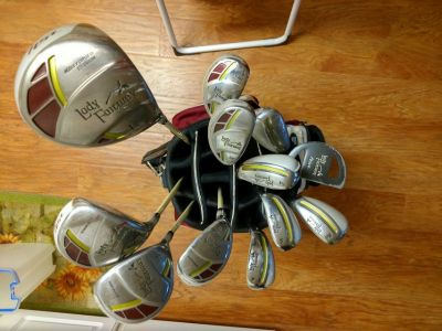 Adams Lady Fairway golf clubs with bag and covers