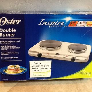 OSTER DOUBLE BURNER..(NEW CONDITION)
