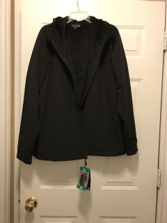 NEW WITH TAGS WOMEN S BLACK FULLY LINED WATER , WIND REPELLENT JACKET GREAT CHRISTMAS GIFT SIZE XL