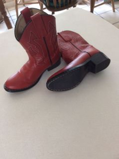 Red boots leather size 12 child ( boy or girl ) $10.00