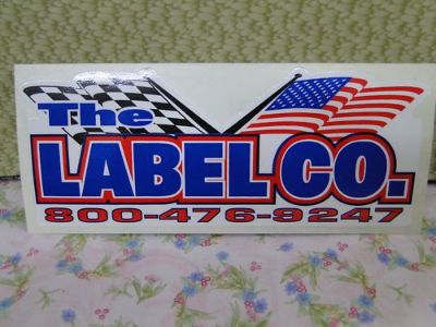 Find Sticker, Racing, Race Car, The LABEL CO. motorcycle in Hartford, Wisconsin, United States, for US $3.95