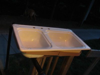 "Buy RV / Trailer Kitchen Sink, Double Tub Sink, Off White, 19""X33""X7, New, Mtg Hdwr motorcycle in Adrian, Michigan, US, for US $50.99"