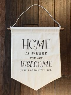 Day Spring Cloth Home Sayings W Dowel Decor-New
