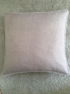 Down filled throw pillow