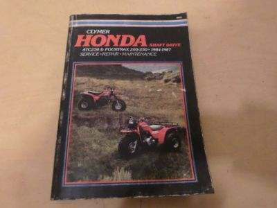 Find CYLMER SERVICE MANUAL HONDA ATC250 & FOURTRAX 200-250 1984-1987 motorcycle in Payette, Idaho, United States, for US $41.99