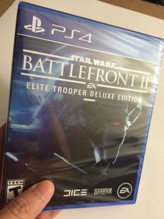 PS4 Star Wars: Battlefront II Brand New Factory Sealed.