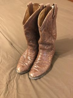 Ostrich cowboy boots - 9 for trade