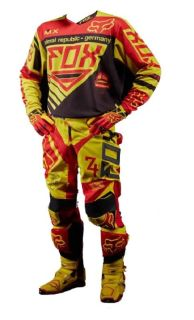 Purchase Fox Racing 2014 Limited Blk Yel MXoN 360 Intake Medium Jersey and Pants Size 32 motorcycle in Camarillo, California, US, for US $234.90