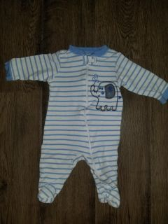 0-3 months. Pjs. Lots of baby clothes on my page