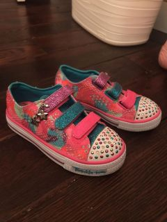 Twinkle toes Sketchers shoes girls size 12 Worn Once!