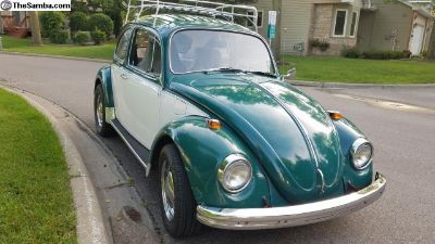 1969 VW Bug With Roof Rack
