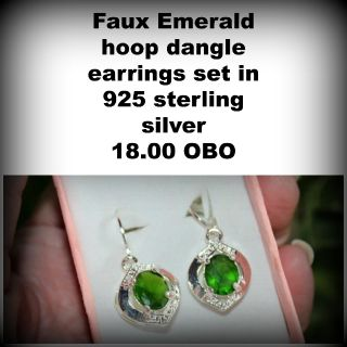 Faux Emerald earrings