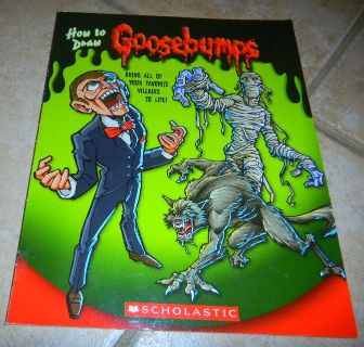How to Draw Goosebumps Book ~ Out of Print! Hard to Find