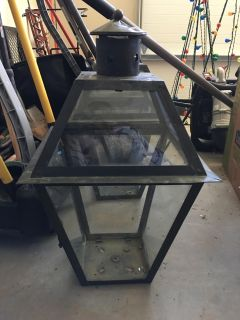 Gas lantern tops I used as lanterns on porch 3 available $3 each