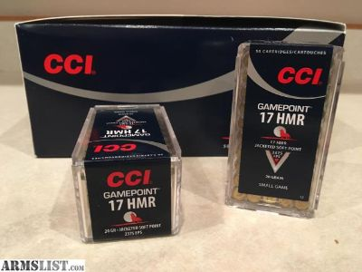 For Sale: 17 HMR 20gr Gamepoint