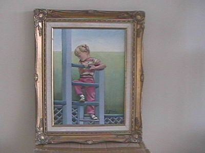 Listed Artist Original Oil Painting for a child's room