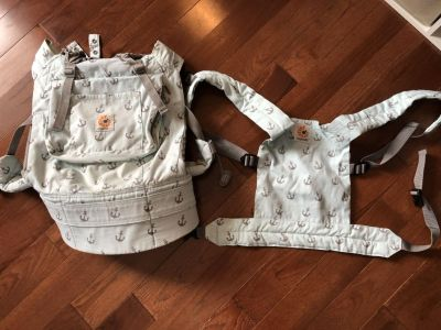 Ergobaby Baby Carrier with matching DOLL carrier for kids