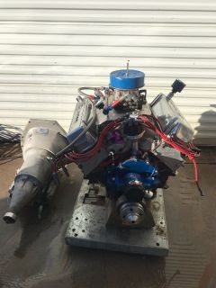 557cid Ford Stroker Complete Engine to Trans Combo