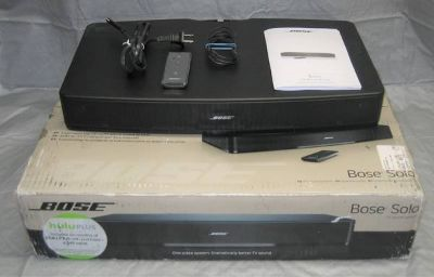 Bose Solo TV Sound System with Original Box and Remote - Model 410376
