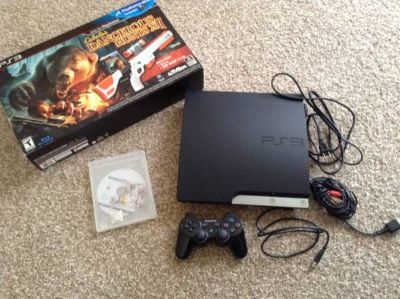 320g PS3 slim with 2 games