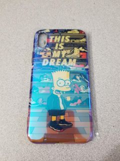 Case for IPhone X Bart Simpson