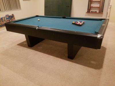 AMF 8' Pool Table with Ping Pong Table Top