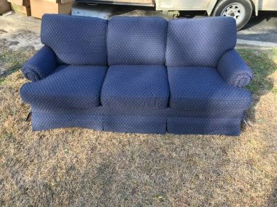 Blue Fabric Sofa / Couch