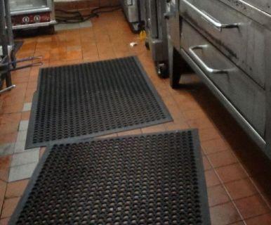 Lot of: (8) Floor Mats; (3) Ingredient Bins RTR# 9041692-07