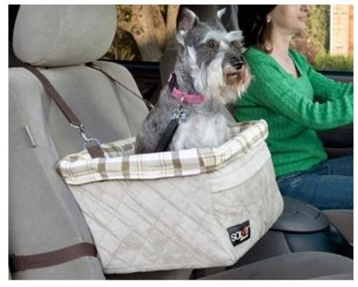 Dog booster seat for car