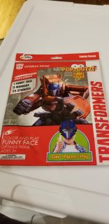 Transformers pop out color & play funny face