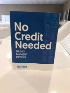 No credit need TAKE IT HOME TODAY!