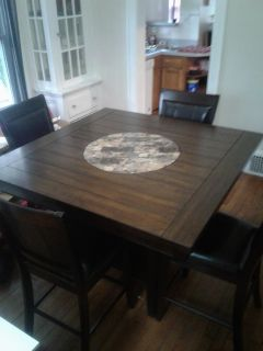 Large 9 1/2' sectional and dining set