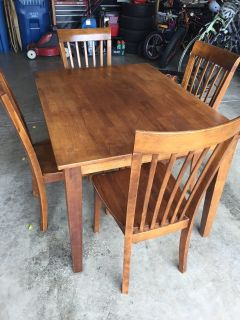 Kitchen Table and 4 Chairs Set