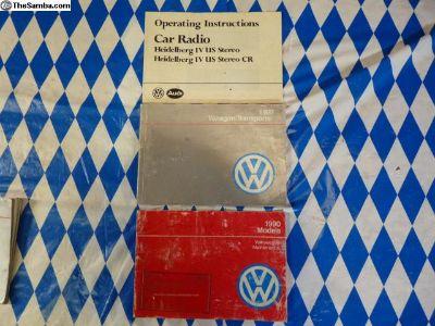 1990 Vanagon owners manual