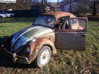 O.G 1958 VW Beetle Ice Pick Handle Doors L TN