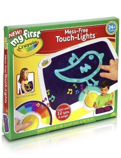 Crayons touch-lights mess free doodle pad (batteries included)