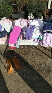 Mix and match baby girl clothes.