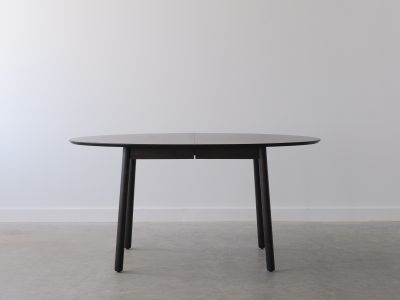 Oval Extension Table - Solid Oak w/Charcoal Dye