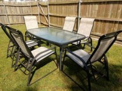 Patio set for six